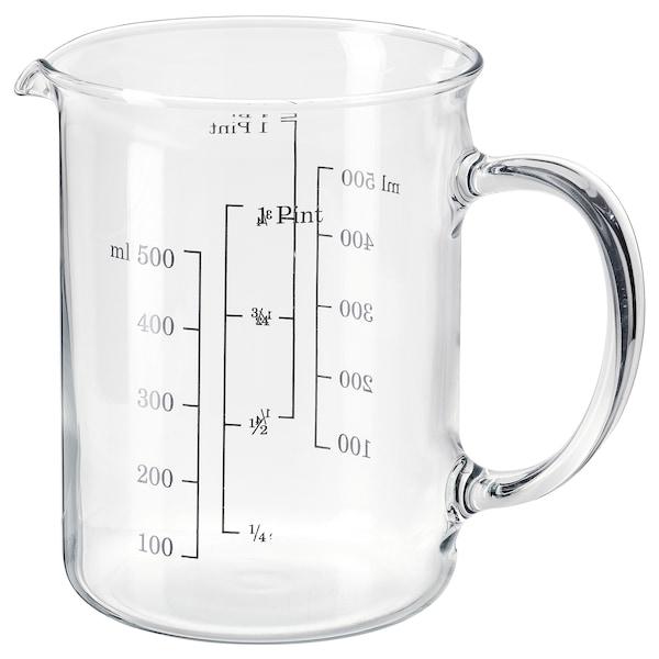 VARDAGEN measuring jug glass 0.5 l