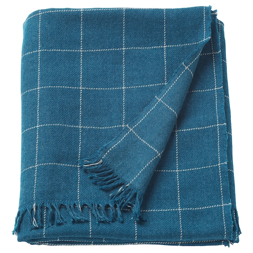 VÅRKRAGE throw blue 170 cm 110 cm 370 g
