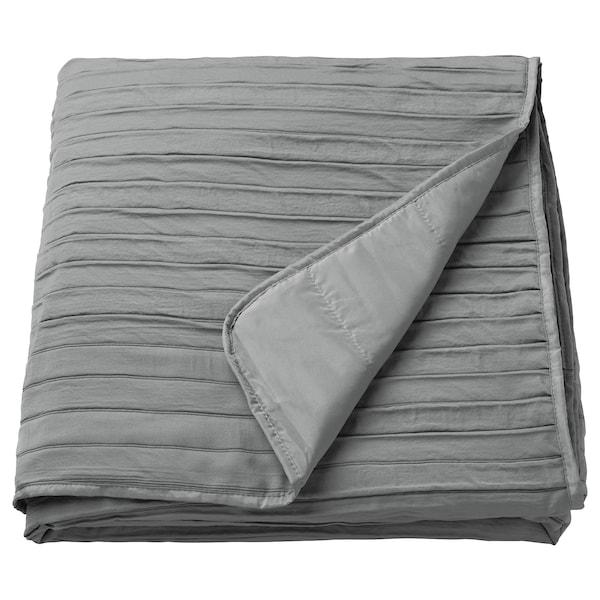 VEKETÅG غطاء سرير, رمادي, 160x250 سم