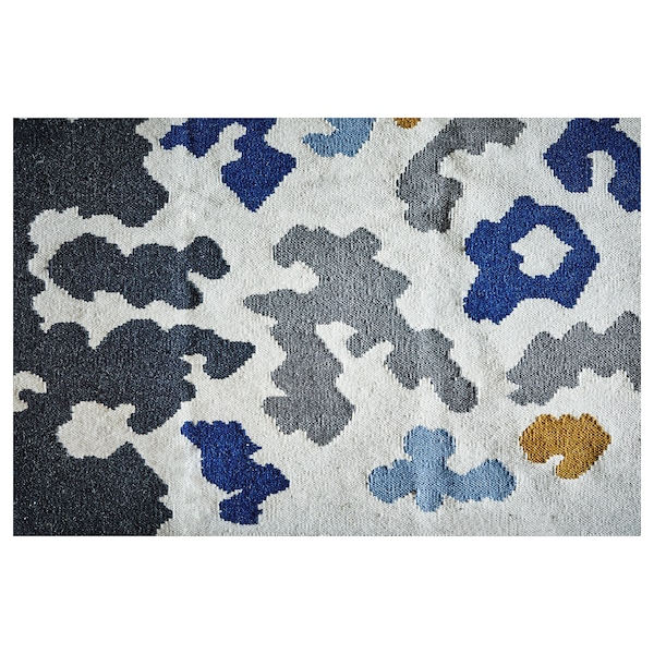 VIDEBÄK سجاد، غزل مسطح, صناعة يدوية/متعدد الالوان, 133x195 سم