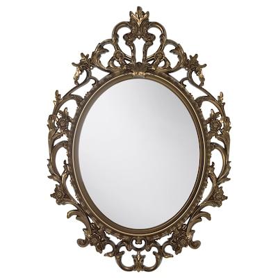 VIKERSUND مرآة, شكل بيضاوي/لون نحاسي, 59x85 سم