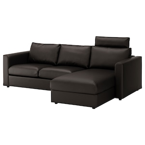 Cover: With chaise longue with headrest/farsta black.