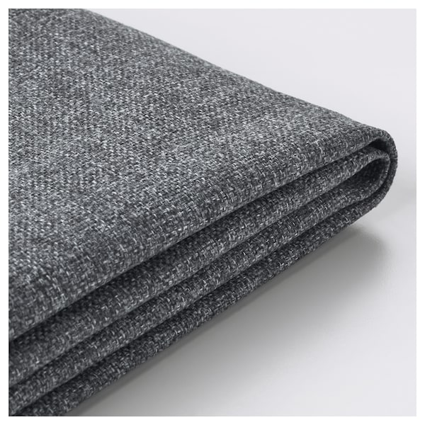 VIMLE Cover 3-seat sofa w chaise longue, with headrest/Gunnared medium grey