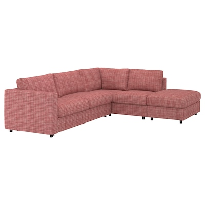 VIMLE Cover for corner sofa-bed, 4-seat, with open end/Dalstorp multicolour