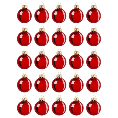 VINTER 2020 Decoration, bauble, glass red, 3.5 cm