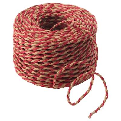 VINTER 2020 String, beige/red, 40 m