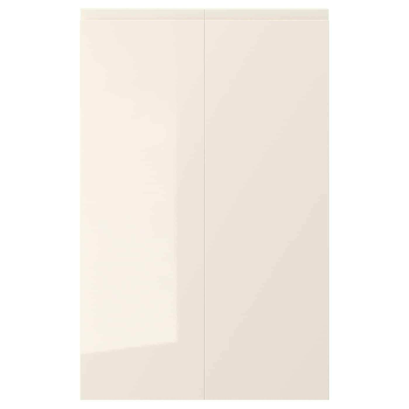 Voxtorp 2 P Door F Corner Base Cabinet Set Right Hand High Gloss Light Beige Ikea