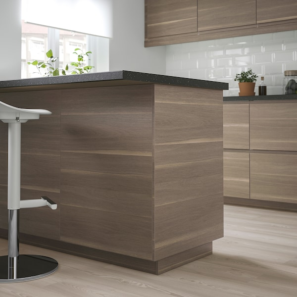 VOXTORP Cover panel, walnut effect, 62x240 cm