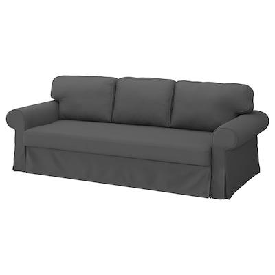 VRETSTORP غطاء كنبة - سرير 3 مقاعد, Hallarp رمادي