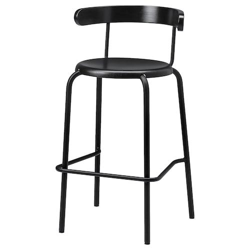 YNGVAR bar stool anthracite 110 kg 40 cm 40 cm 75 cm 99 cm