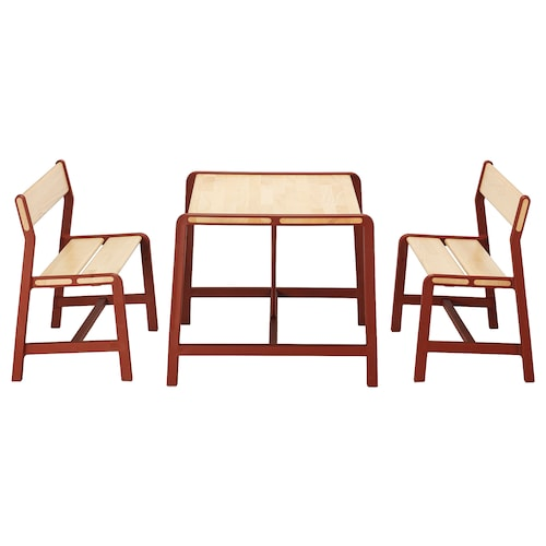 YPPERLIG children's table with 2 benches 74 cm 62 cm 56 cm