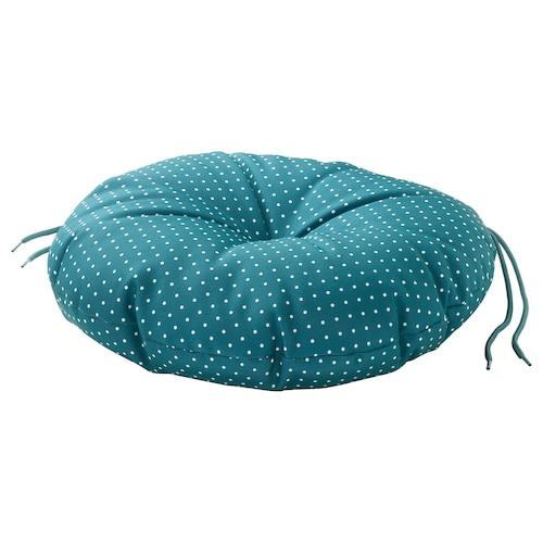 YTTERÖN chair cushion, outdoor blue 35 cm 8 cm 180 g 263 g