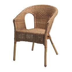 AGEN chaise, rotin, bambou