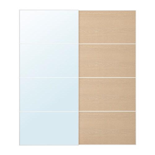Auli ilseng jeu de 2 portes coulissantes 200x236 cm accessoire de fermeture silencieuse ikea - Porte coulissante silencieuse ...
