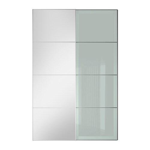 Auli sekken jeu de 2 portes coulissantes 200x236 cm accessoire de fermeture silencieuse ikea - Porte coulissante silencieuse ...
