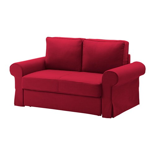 Backabro housse de canap lit 2 places rouge nordvalla - Housse de canape 3 places ikea ...