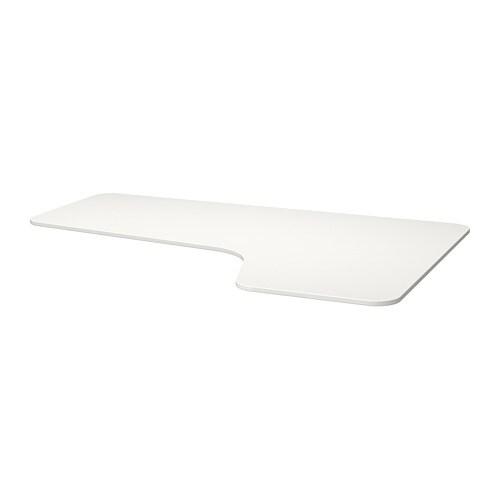 bekant plateau pour table d 39 angle droite blanc ikea