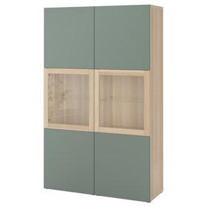 Couleur: Effet chêne blanchi/notviken gris-vert verre transparent.