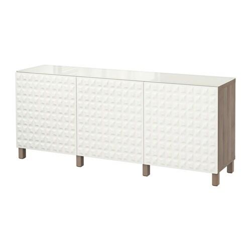 best combin rangement portes motif noyer teint gris blanc djupviken ikea. Black Bedroom Furniture Sets. Home Design Ideas