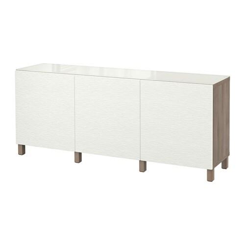 best combin rangement portes motif noyer teint gris blanc laxviken ikea. Black Bedroom Furniture Sets. Home Design Ideas