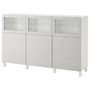 Couleur: Blanc lappviken/gris clair verre transparent.