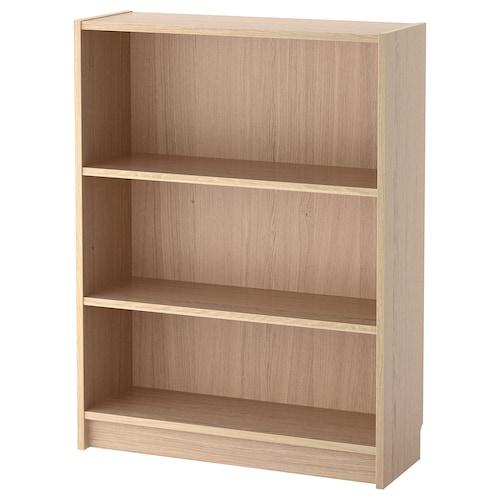BILLY bibliothèque plaqué chêne blanchi 80 cm 28 cm 106 cm 30 kg