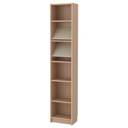 BILLY / BOTTNA bibliothèque av étagère de présent plaqué chêne blanchi/beige 40 cm 28 cm 202 cm 14 kg