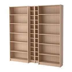 BILLY / GNEDBY bibliothèque, plaqué chêne blanchi