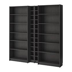 BILLY / GNEDBY bibliothèque, noir-brun