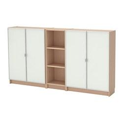 BILLY /  MORLIDEN bibliothèque, plaqué chêne blanchi