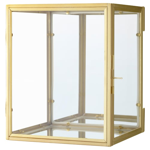 BOMARKEN boîte vitrée couleur or 17 cm 16 cm 20 cm 2.50 kg