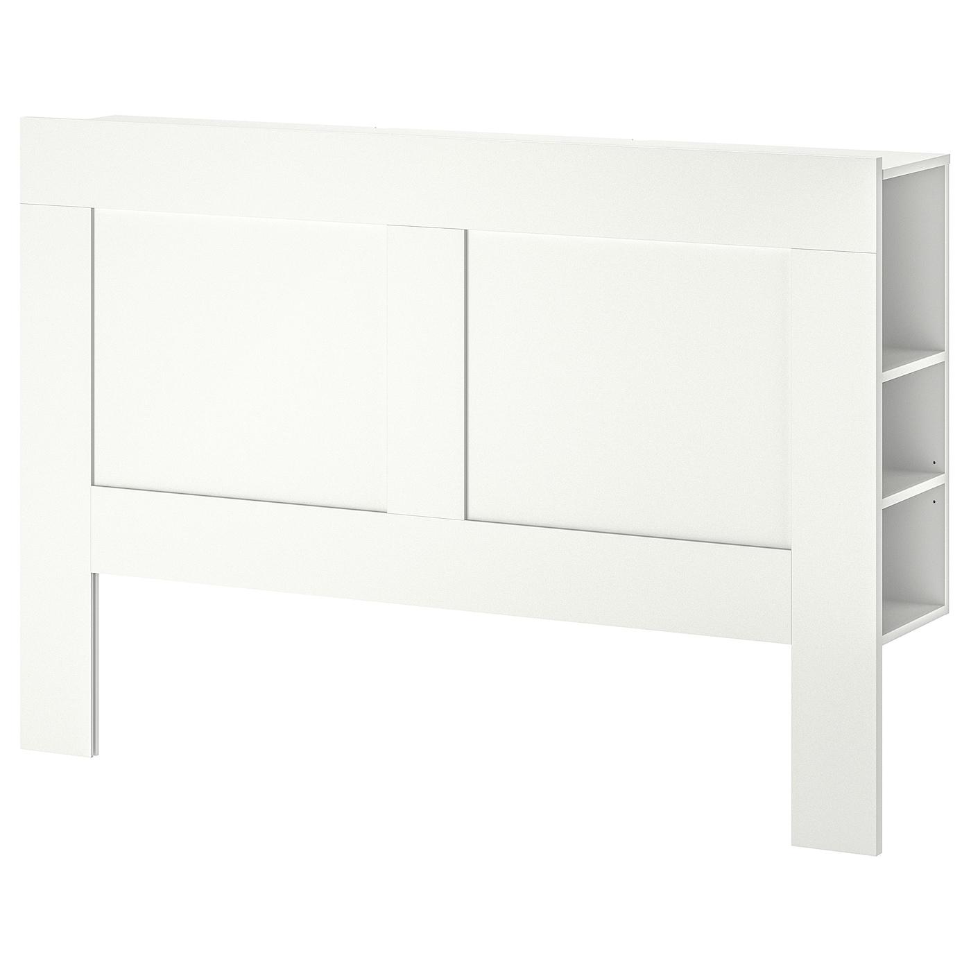 Tete De Lit Ikea Bois brimnes tête de lit avec rangement, blanc