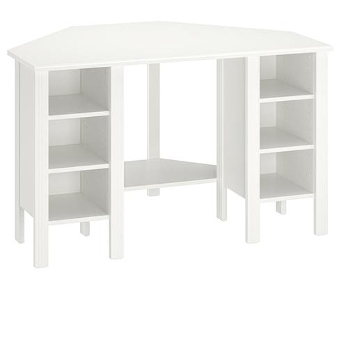 BRUSALI bureau d'angle blanc 120 cm 73 cm 73 cm 73 cm