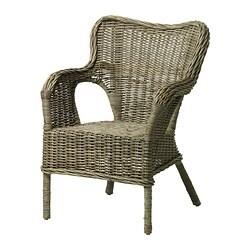 BYHOLMA fauteuil, gris
