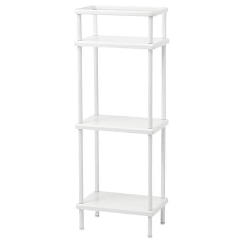 DYNAN étagère avec porte-serviettes blanc 40 cm 27 cm 108 cm