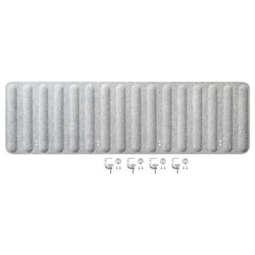 EILIF séparateur bureau gris 160 cm 48 cm