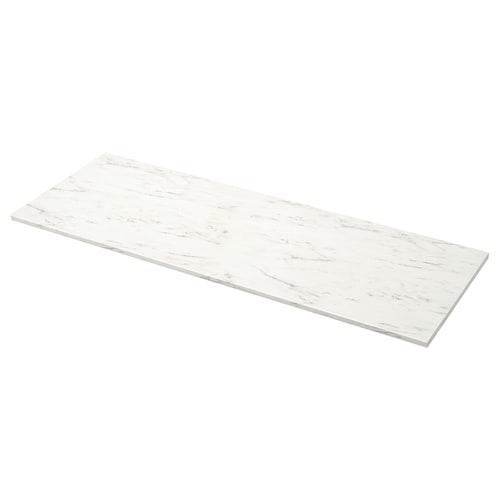 EKBACKEN plan de travail blanc marbré/stratifié 246 cm 63.5 cm 2.8 cm
