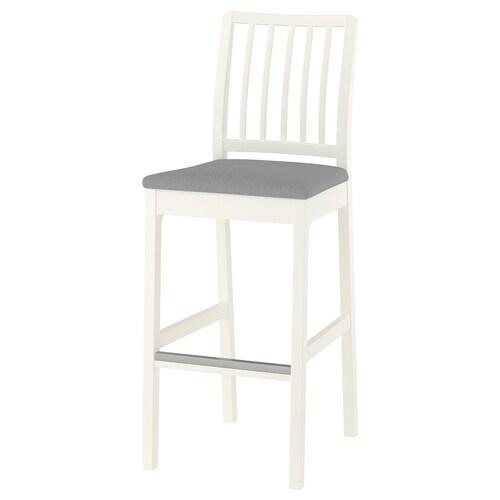 EKEDALEN chaise de bar blanc/Orrsta gris clair 110 kg 45 cm 51 cm 114 cm 45 cm 39 cm 75 cm