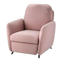 EKOLSUND fauteuil confort, Gunnared marron clair-rose