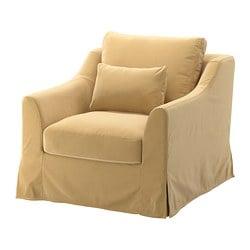FÄRLÖV fauteuil, Djuparp jaune-beige
