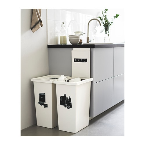 Blanc Panier Avec Couvercle Ikea Filur 42 L Rangement Et