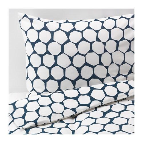 fl ng housse de couette et taie d 39 oreiller 150x200 50x60 cm ikea. Black Bedroom Furniture Sets. Home Design Ideas