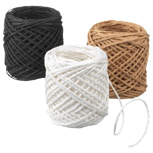 GIVANDE ruban noir/beige/blanc 15 m 1 mm 3 pièces 45 m