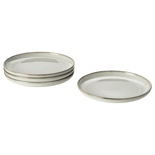 GLADELIG petite assiette gris 20 cm 4 pièces