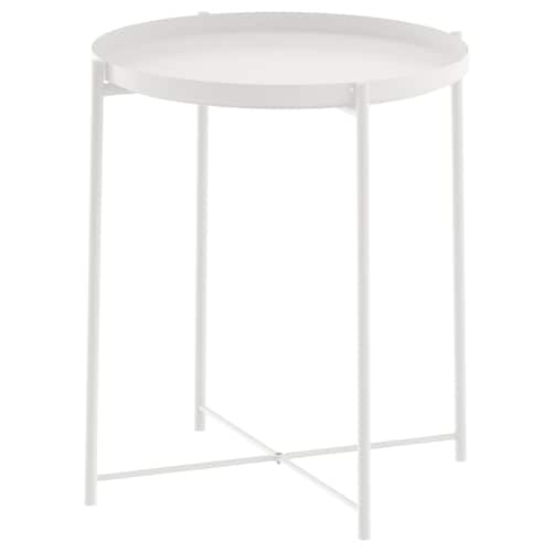 GLADOM table/plateau blanc 53 cm 45 cm