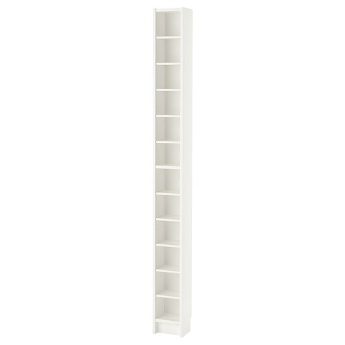 GNEDBY bibliothèque blanc 20 cm 17 cm 202 cm