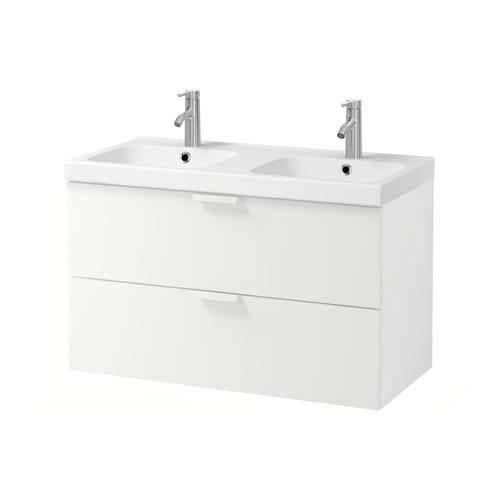 godmorgon odensvik meuble pour lavabo 2 tiroirs blanc ikea. Black Bedroom Furniture Sets. Home Design Ideas