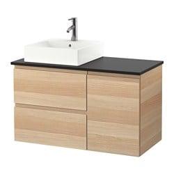 GODMORGON/TOLKEN /TÖRNVIKEN Meuble pour lavabo à lavabo 45x45