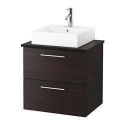 GODMORGON/TOLKEN /TÖRNVIKEN meuble lavabo av lav à poser 45x45