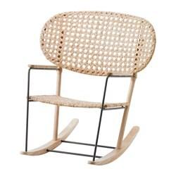 GRÖNADAL fauteuil à bascule, gris, naturel